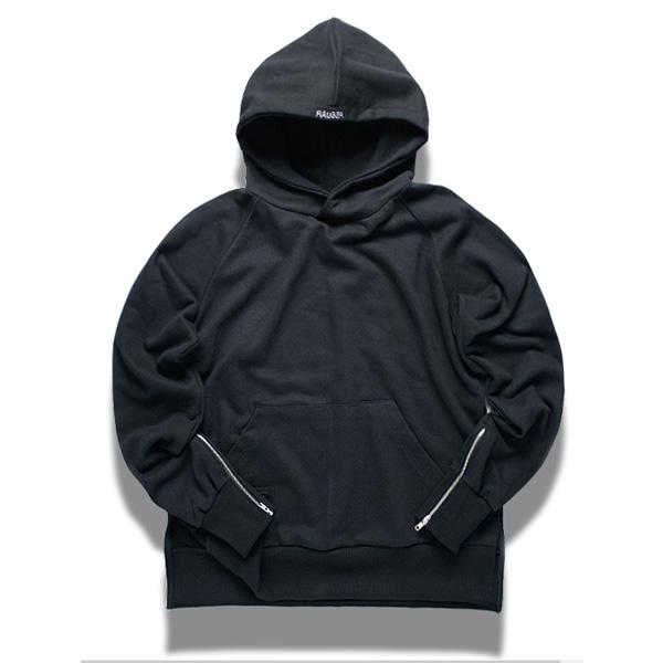 [XXIX] RAUBER 암 지퍼 오버핏 후디 - 코어 블랙