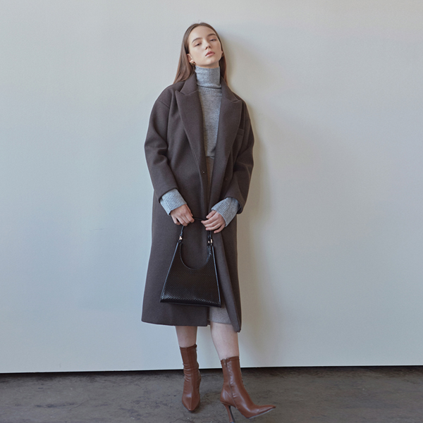 WINTER WOOL HIDDEN COAT_BROWN