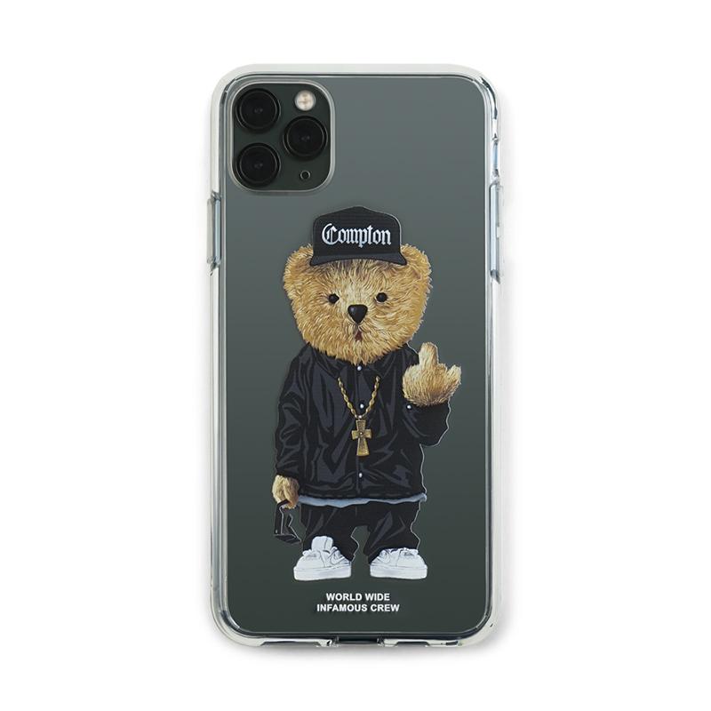 [시즌오프]STIGMA PHONE CASE COMPTON BEAR CLEAR iPHONE 11 / 11 Pro / 11 Pro Max