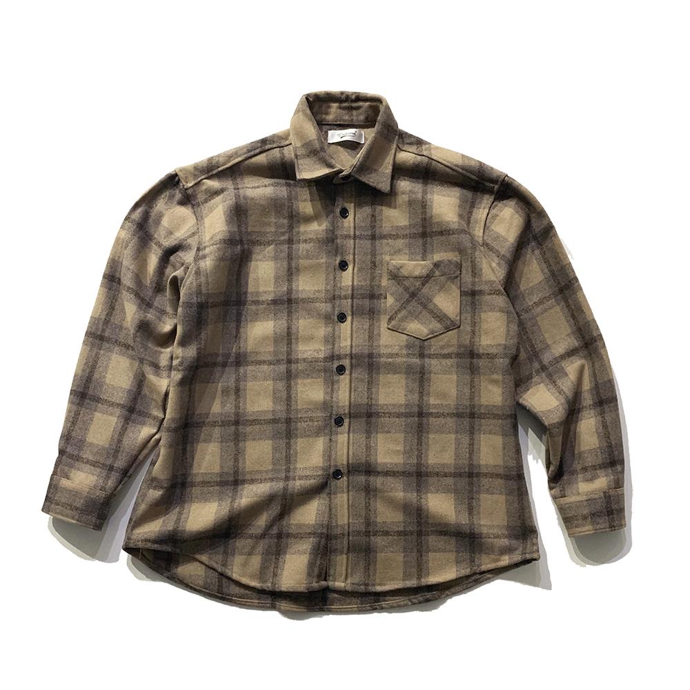 청키 울 체크 셔츠  (2color)