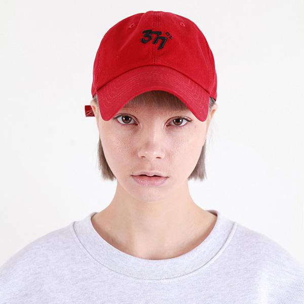 [377] BASIC LINE CAP RED/BLACK