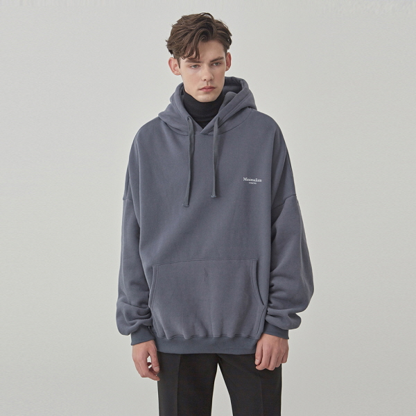 LETTERING OVER HOODIE_CHARCOAL