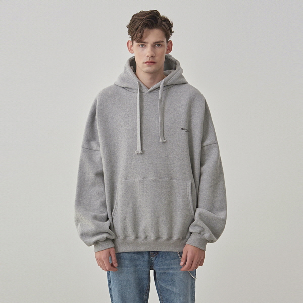 LETTERING OVER HOODIE_GRAY
