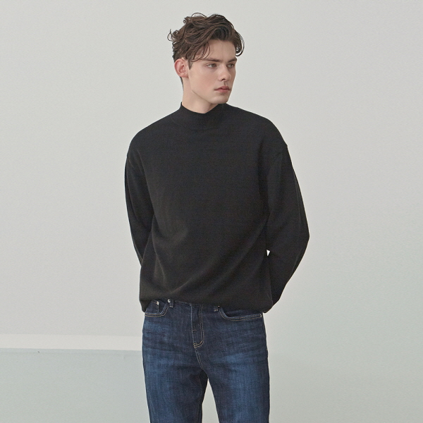 CREED HALF LONG KNIT_BLACK