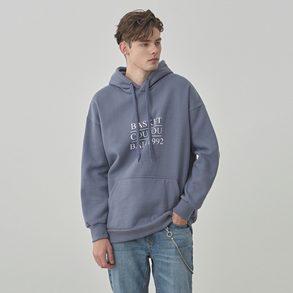 BASKET OVER HOODIE_BLUE GRAY