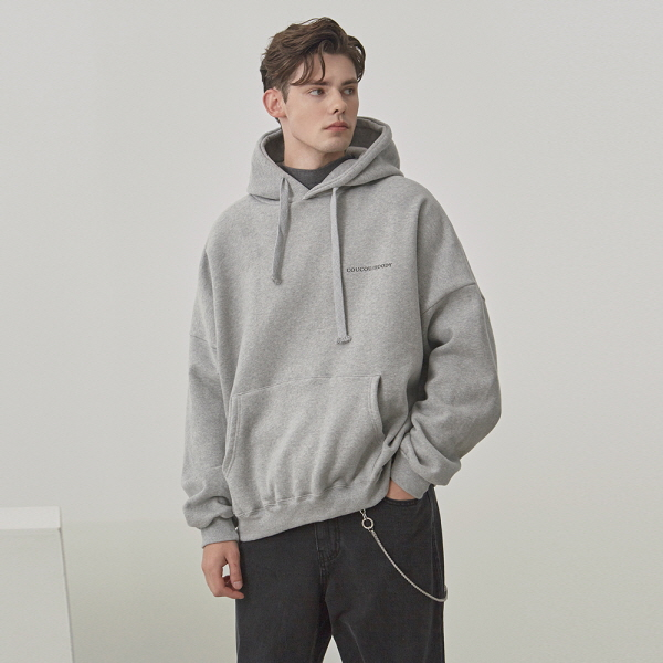 LOGO LETTERING OVER HOODIE_GRAY