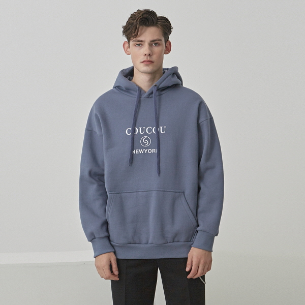 ANALOGUE OVER HOODIE_BLUE GRAY