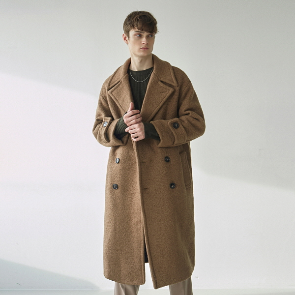 TERRY WOOL DOUBLE LONG COAT_CAMEL