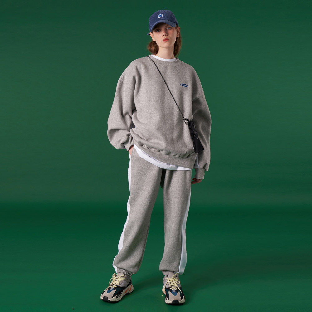 [N]Original small logo training pants-grey