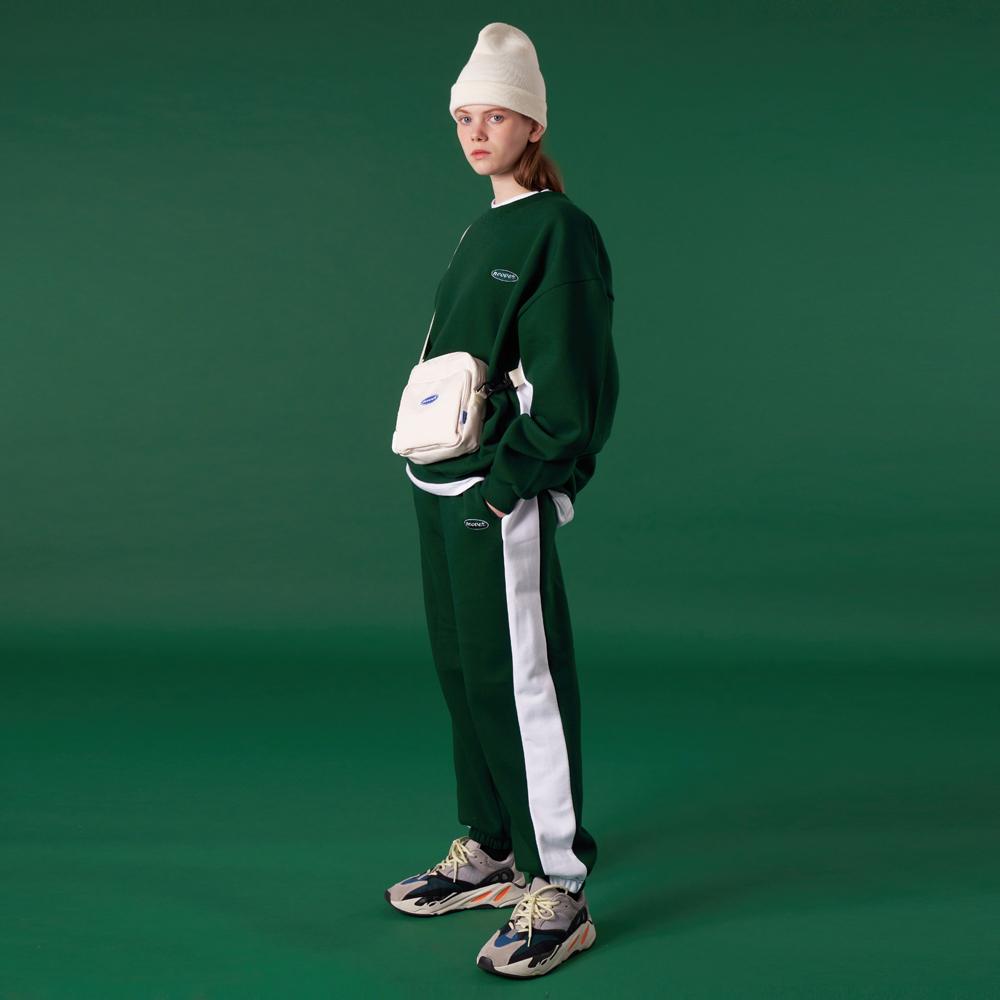 [N]Original small logo training pants-green