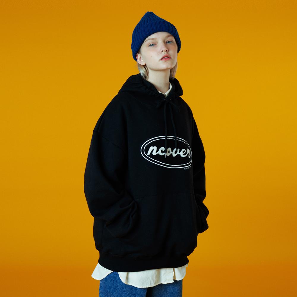 [N]Original candlewick hoodie-black
