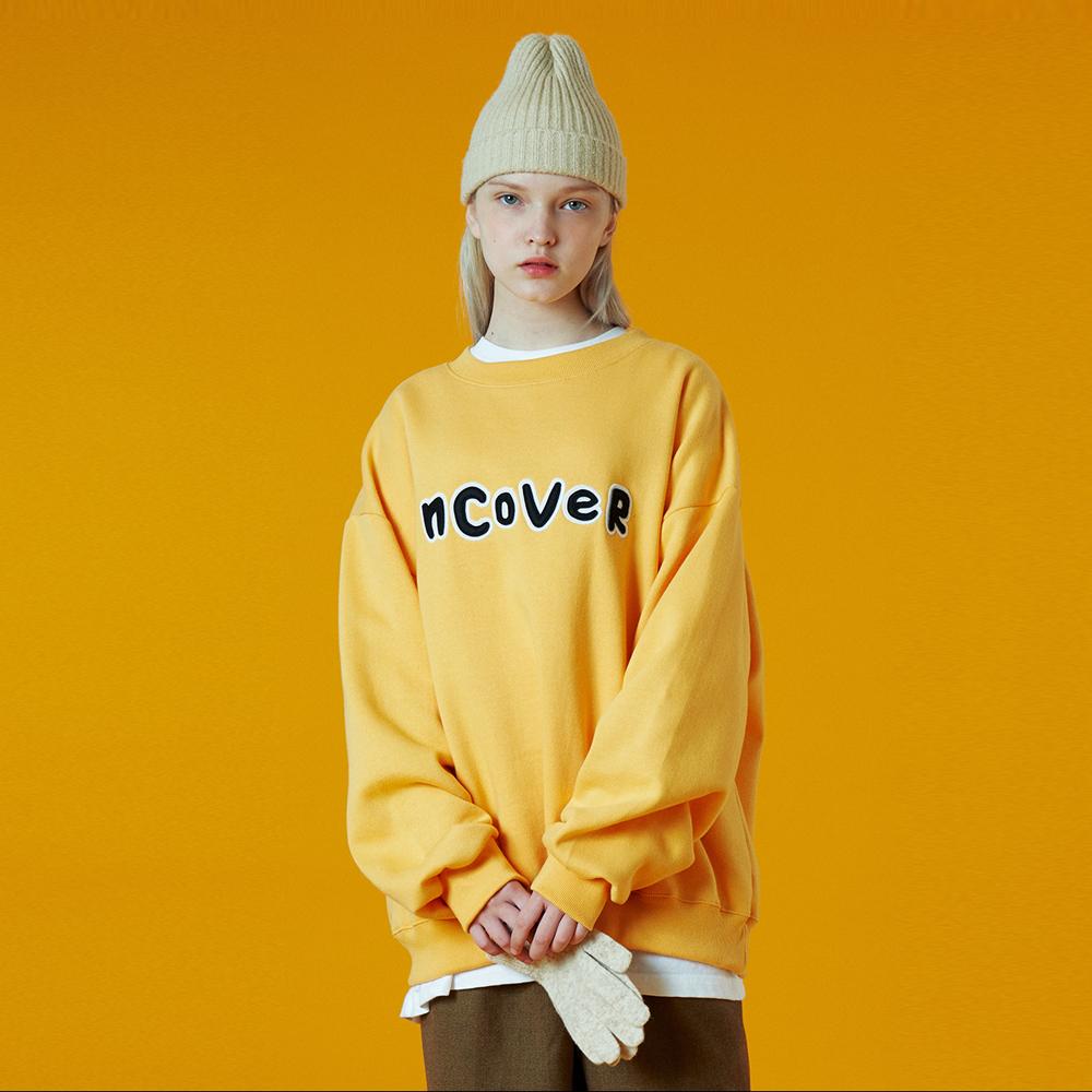 [N]Signature patch logo sweatshirt-yellow