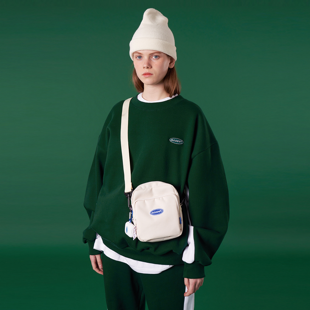 [N]Original small logo training sweatshirt-green