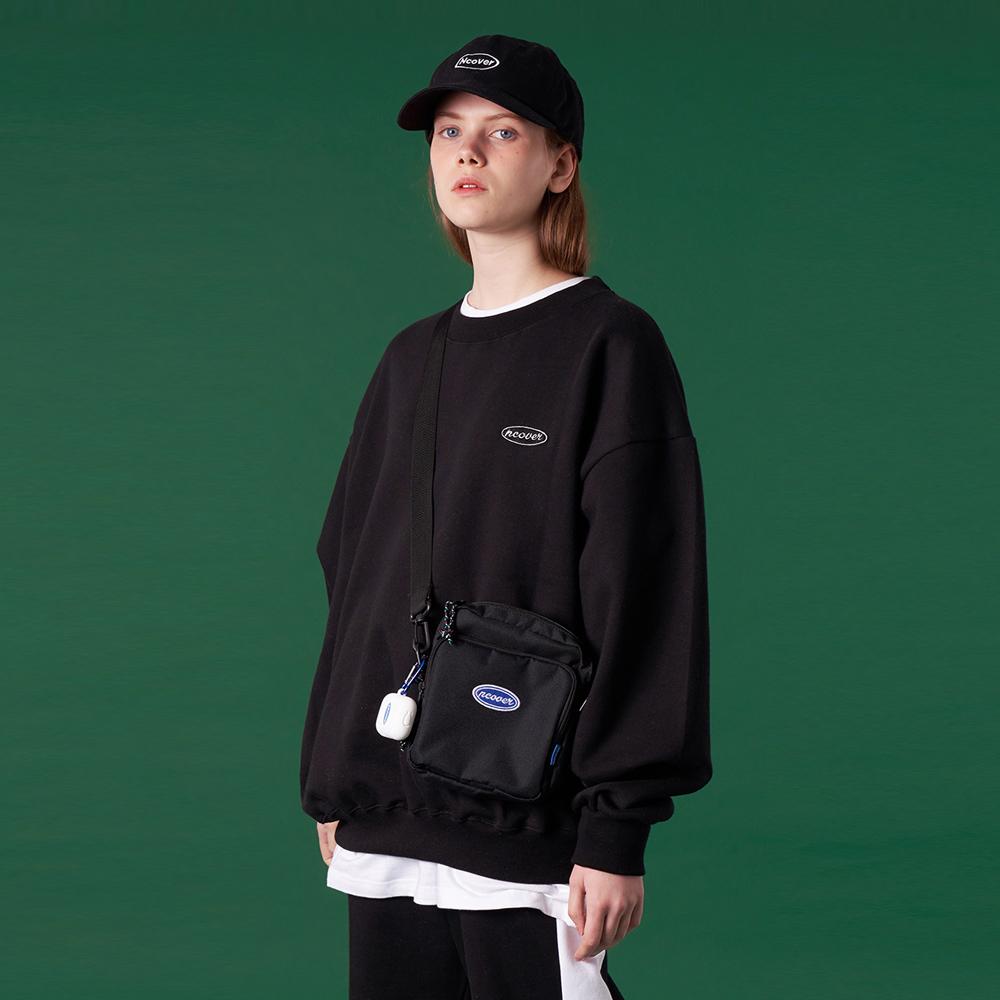[N]Original small logo training sweatshirt-black