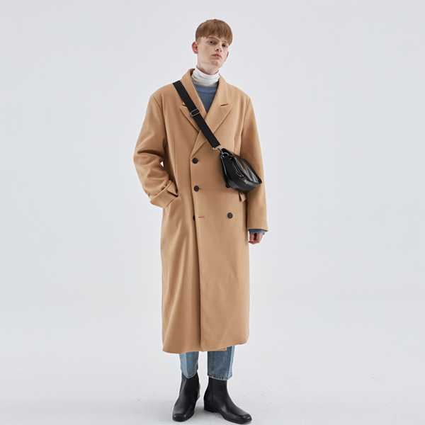 WOOL OVERSIZE DOUBLE COAT_BEIGE