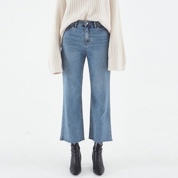 THREE WIDE FIT DENIM PANTS