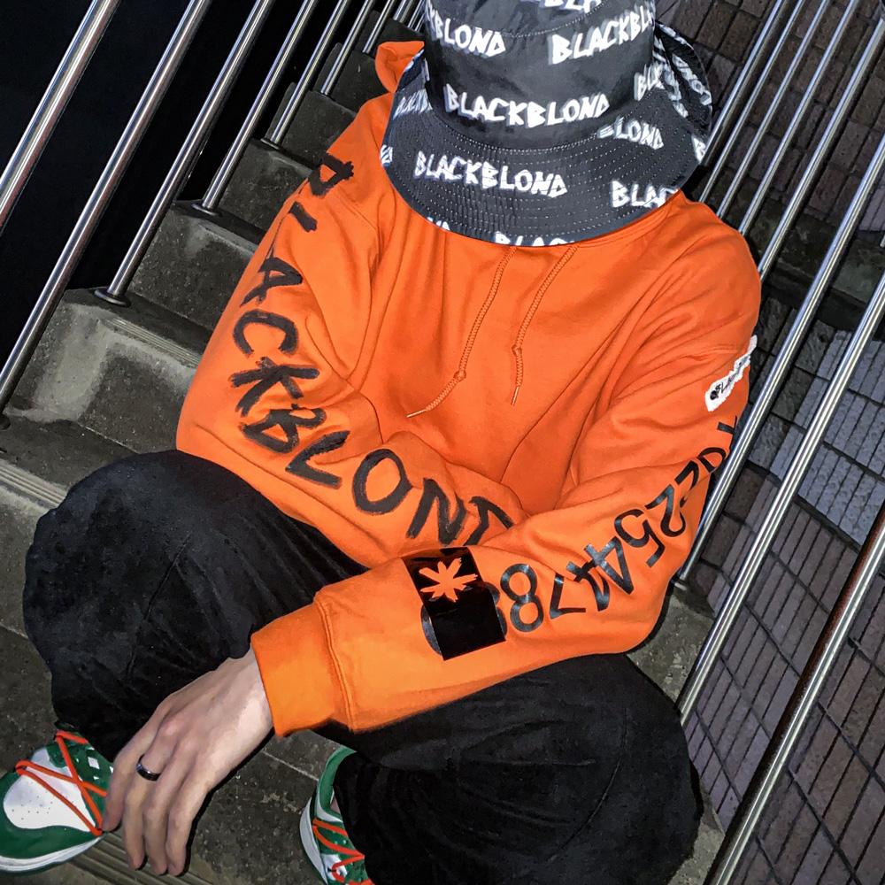 BBD Graffiti Number Hoodie (Orange)
