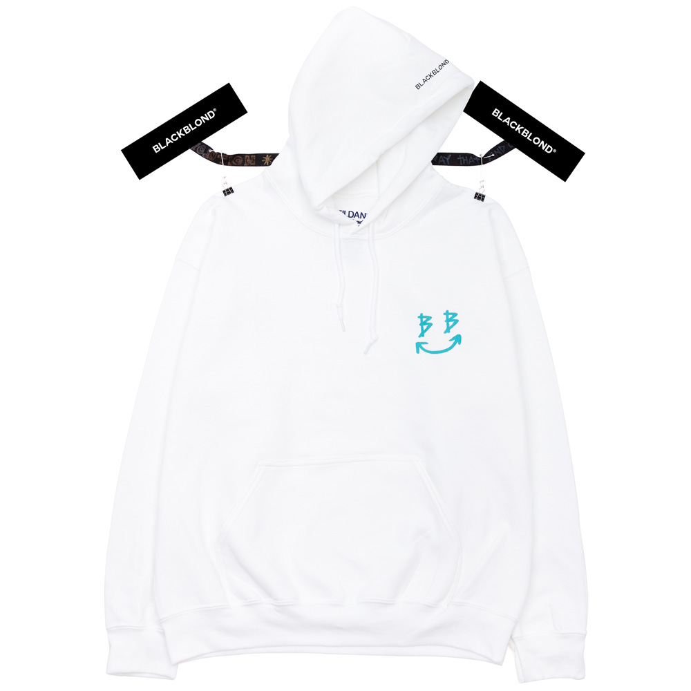 BBD Devil Smile Logo Hoodie (White)