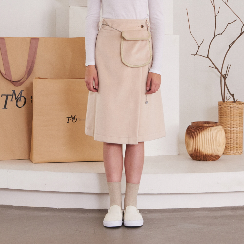POCKET LAP SKIRT (IVORY)