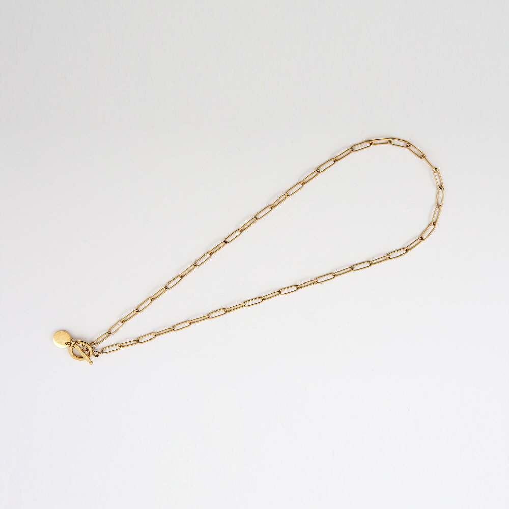 THIN GOLD CHAIN CHOKER (GOLD)