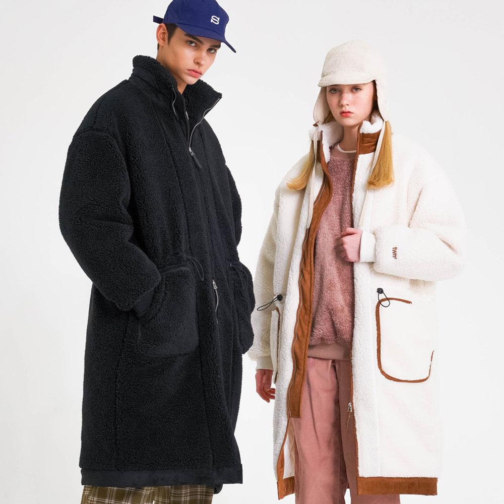 [티떠블유엔] 포모양털 코트 2종 LMOT3258