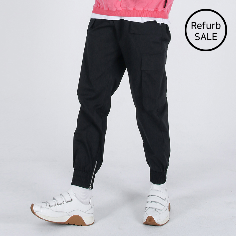 [리퍼브데이] Mild Eazy Zip-up Cargo-Jogger Pants (BLACK)