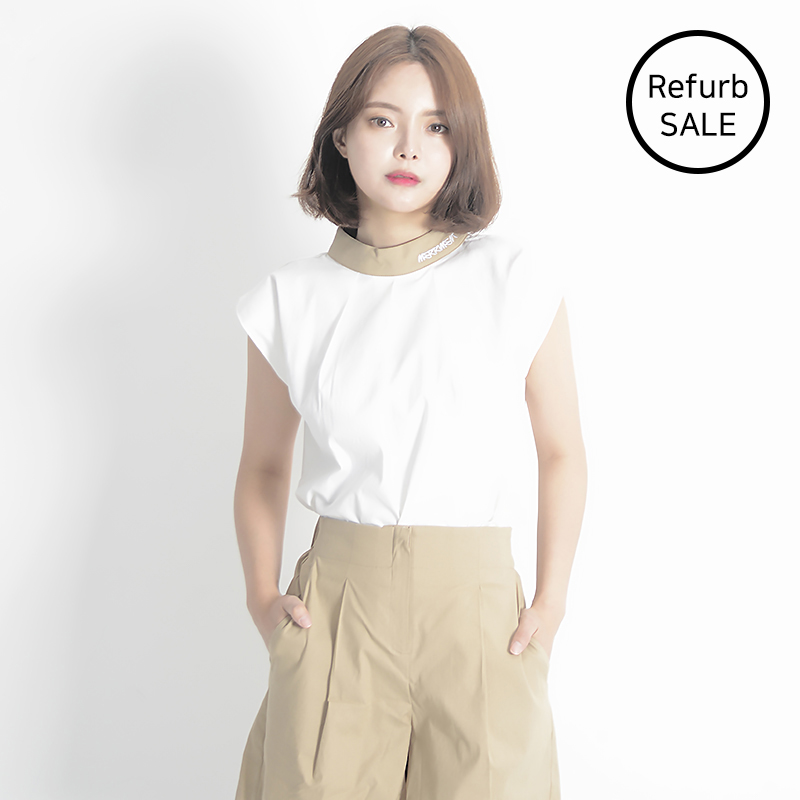 [리퍼브데이] Linen Sleeveless Shirt (BEIGE)