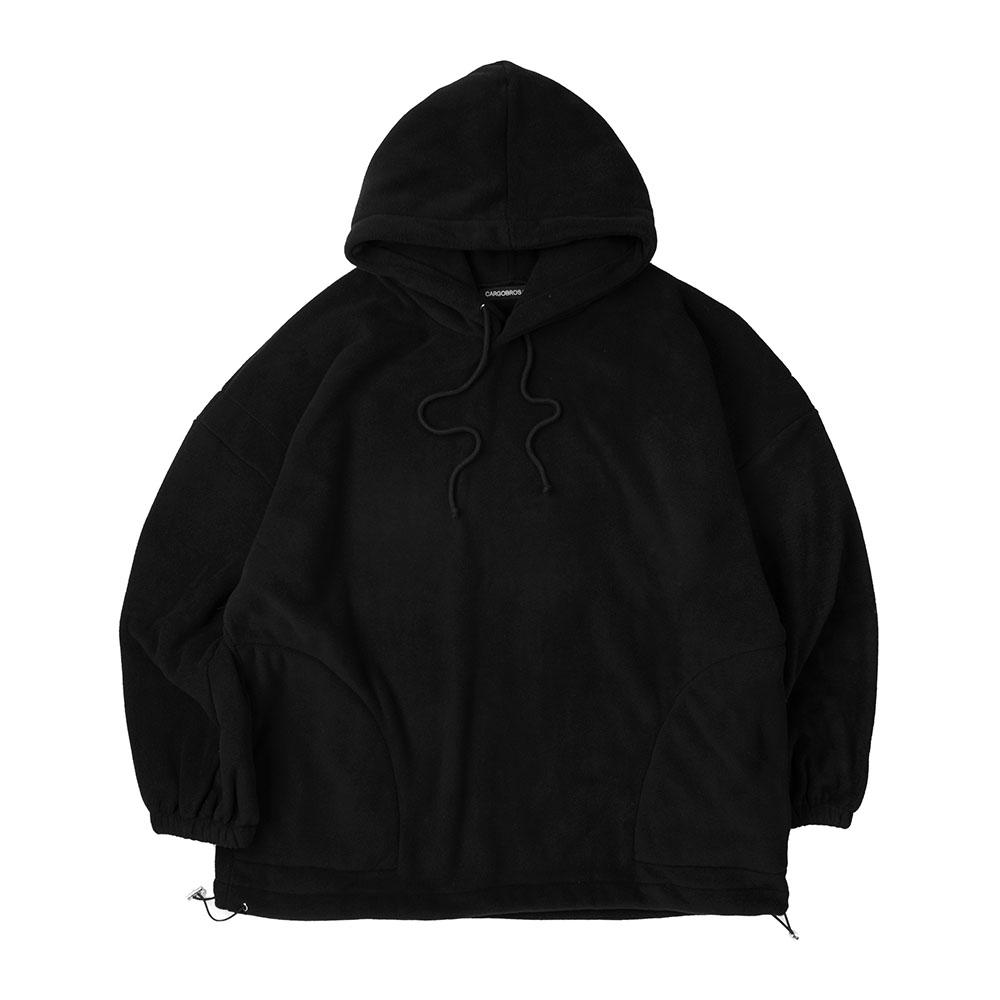 CB Over Fit Hood Fleece (BLACK)