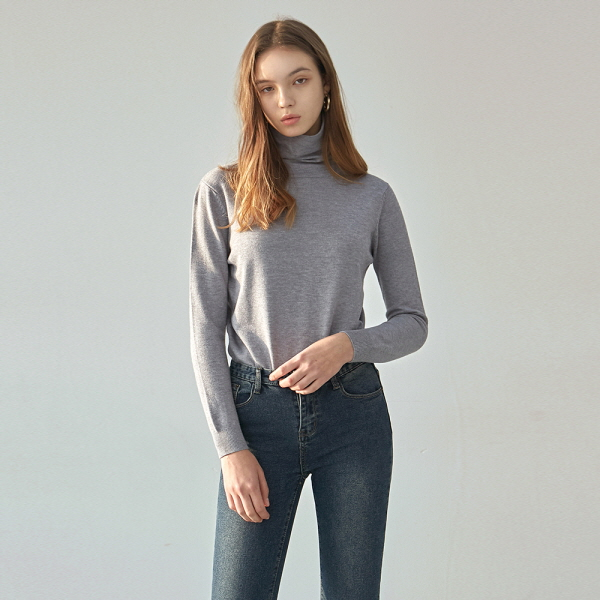 FRENCH TURTLE KNIT_GRAY