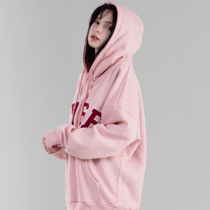 엠브로이더리 컬리지 후드 (핑크)