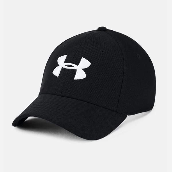 [국내]언더아머 블리징 로고 모자 블랙(화이트) 1305036 001