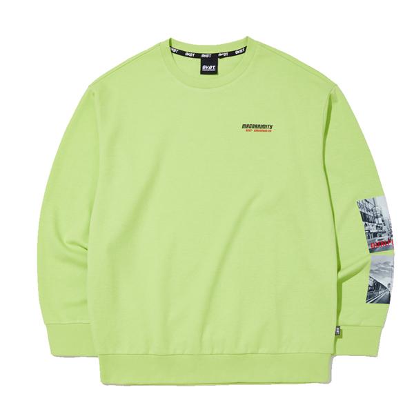 소매 전사 맨투맨 티셔츠 (MJ3TU659-044)