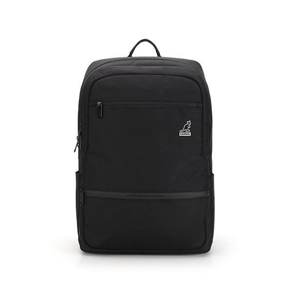 Ted double zipper Backpack 1359 BLACK