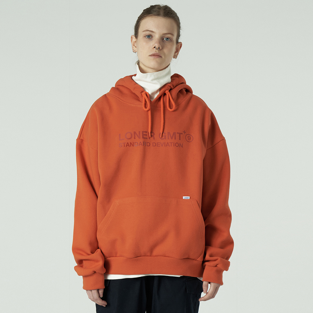 [L]Gmt standard logo hoodie-orange