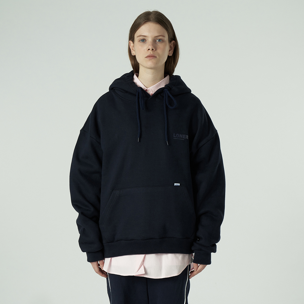 [L]Basic gmt hoodie-navy