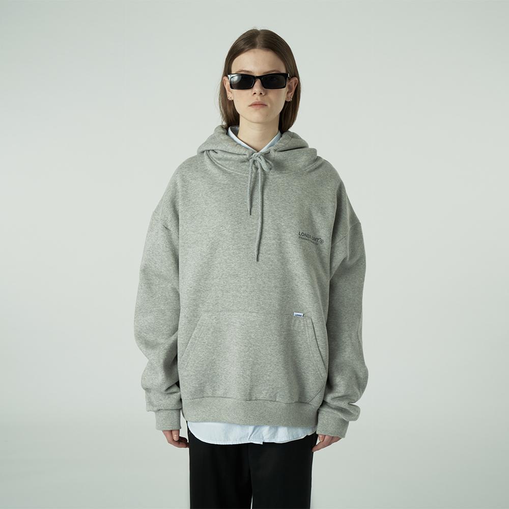 [L]Back under logo hoodie-grey