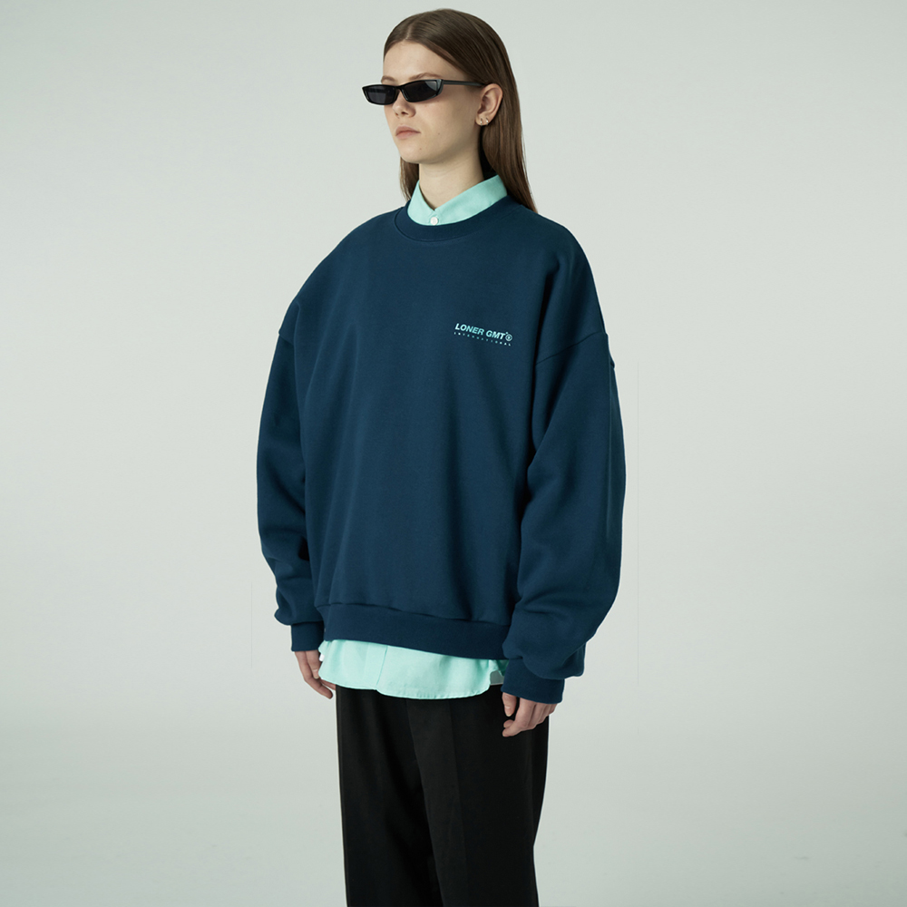 [L]Gmt standard sweatshirt-emerald deep blue