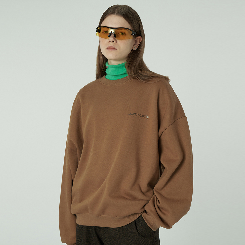 [L]Gmt standard sweatshirt-brown