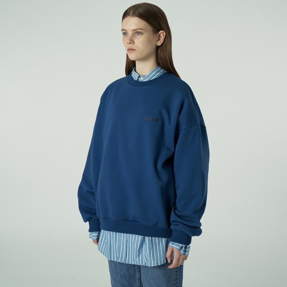 [L]Basic gmt sweatshirt-blue