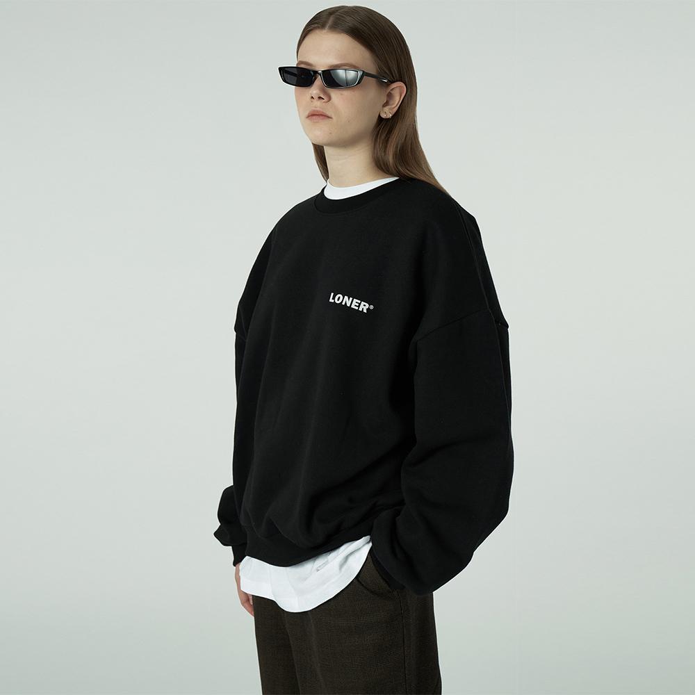 [L]Basic gmt sweatshirt-black