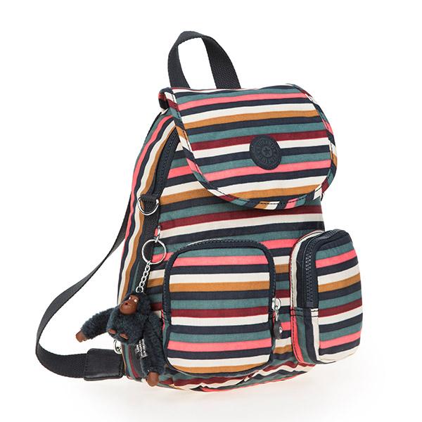 [키플링]FIREFLY UP Small backpack Multi Stripes 파이어플라이업 스몰 백팩