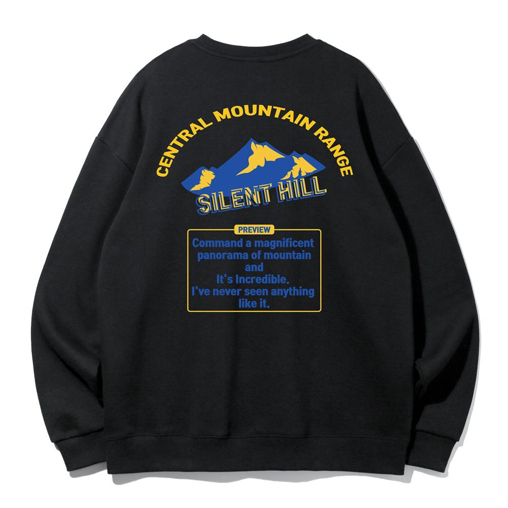 [앨빈클로]MAR-964 사일런트 힐 오버핏 맨투맨