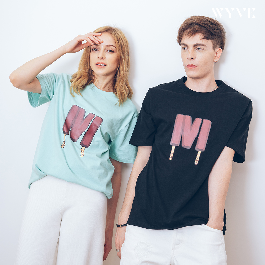 [1+1] MYKIMI Twin ice cream T-shirts