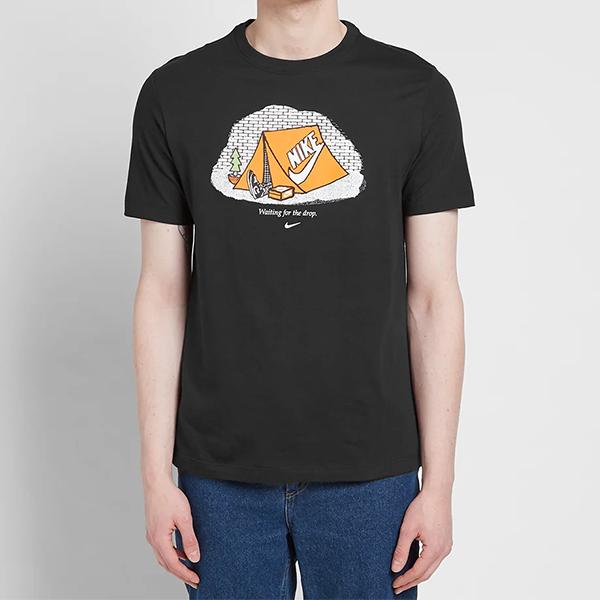 [해외]나이키 풋웨어 캠프 티셔츠 블랙