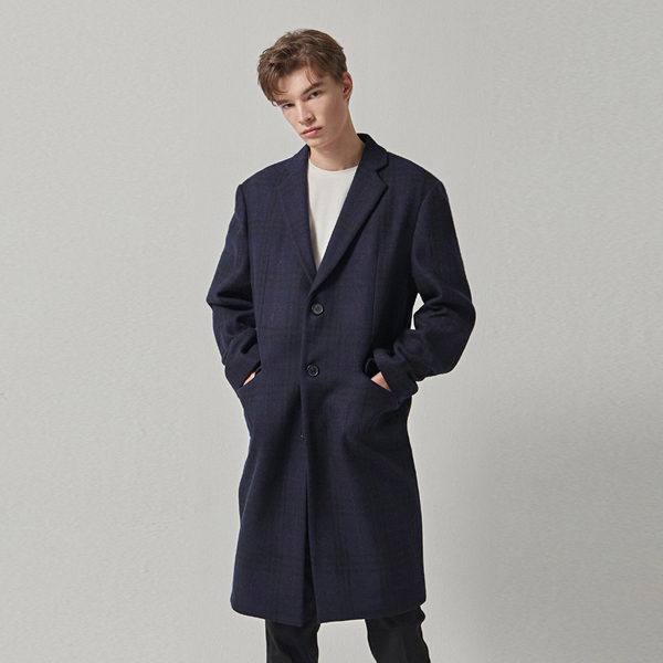 ORIGIN OVER WOOL COAT_NAVY