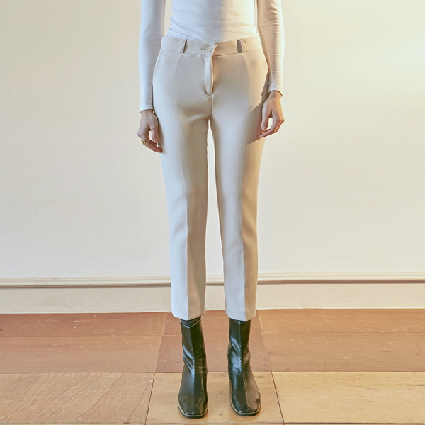 SIENNA STRAIGHT SLACKS_CREAM