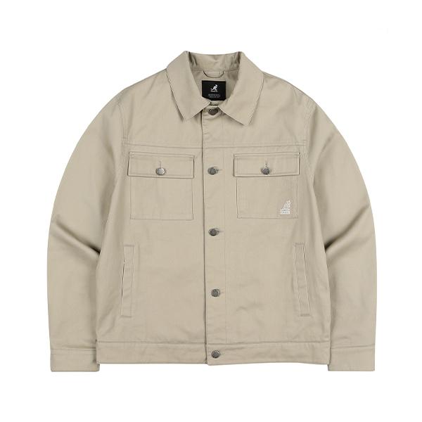 Twill Trucker Jacket 8510 BEIGE