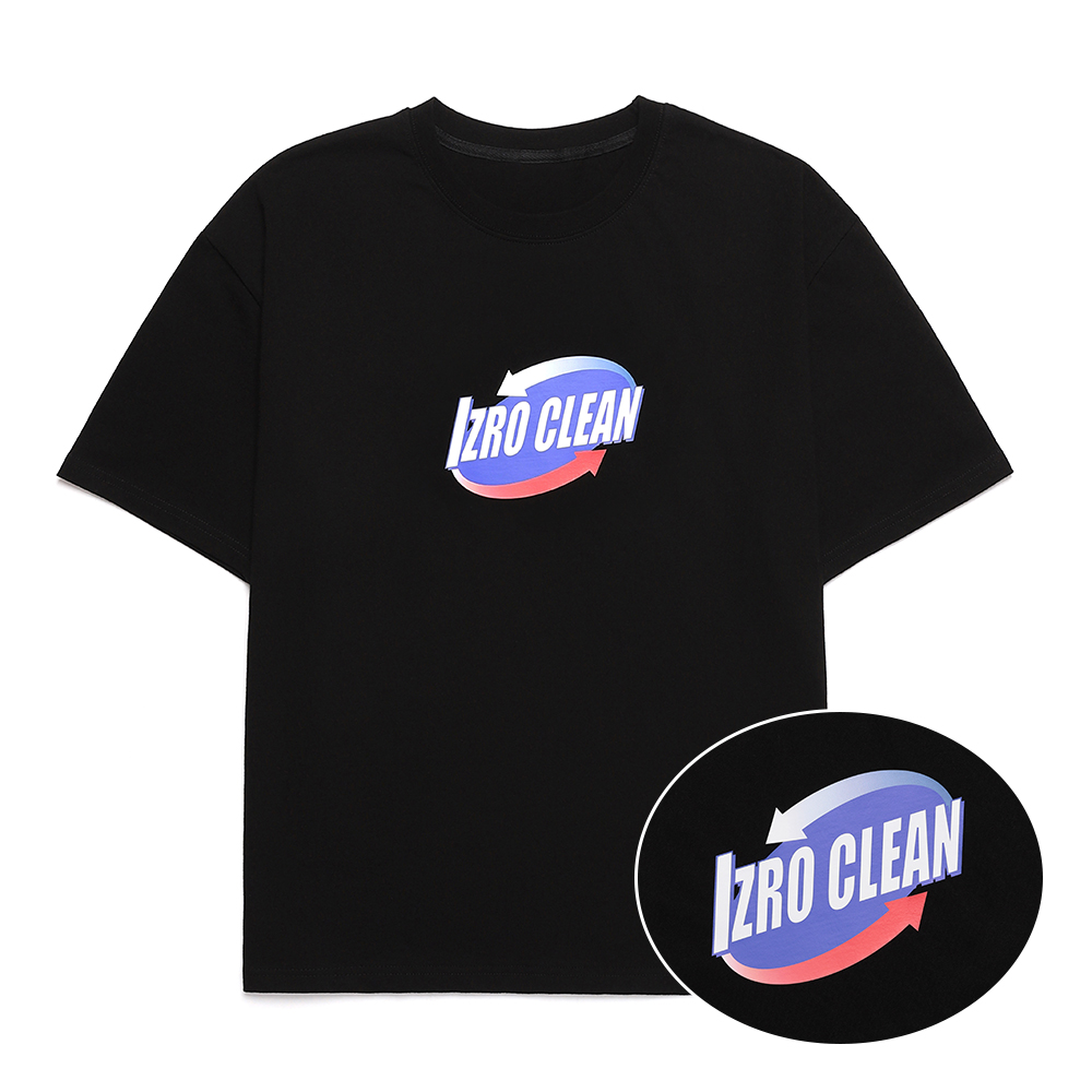 IZRO CLEAN T SHIRT - BLACK