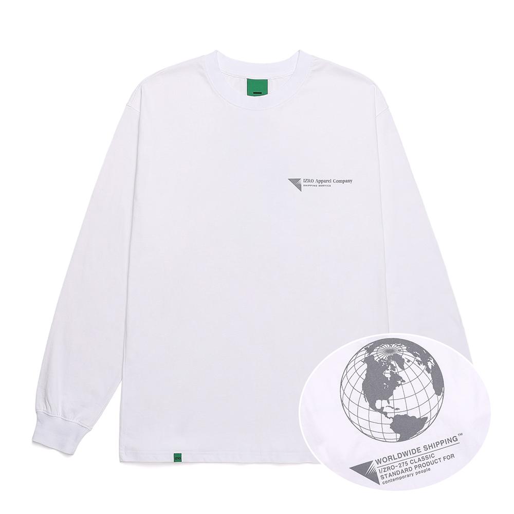 IZRO WORLD MAP LONG SLEEVE - WHITE