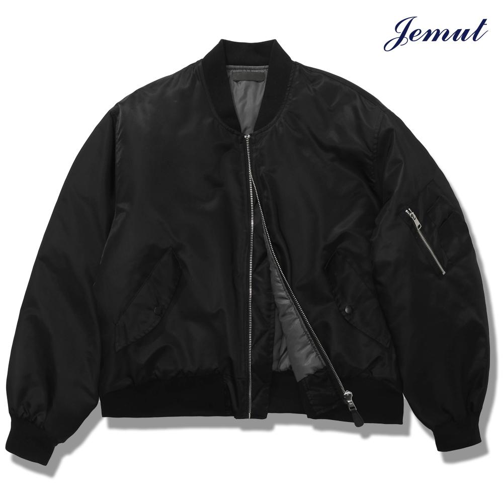 [제멋] 리치 오버 MA-1 자켓 블랙 YHJK2269